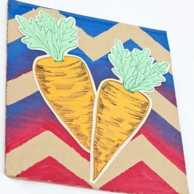 DIY Chevron Carrot Easter Art