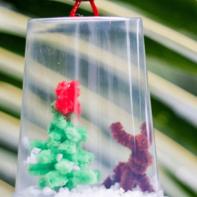 DIY Christmas Snow Globe Craft