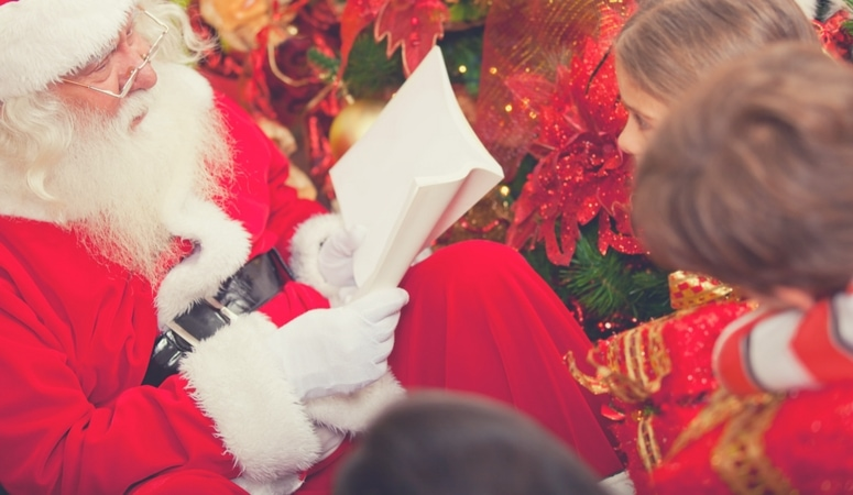 Creating Christmas traditions is one of the best ways to create lasting childhood memories for your kids. The Christmas lights, music, family togetherness and general spirit often brings much more joy than any gifts exchanged. Gather for stories.