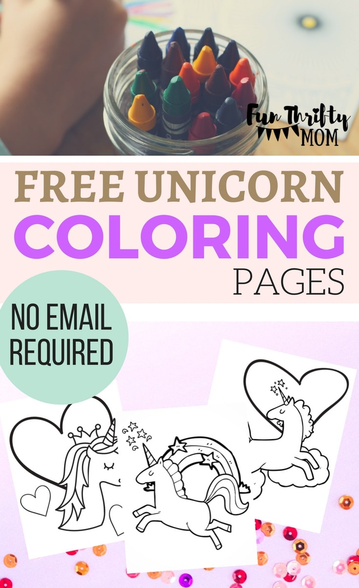 Free printable unicorn coloring pages. Perfect for a unicorn themed birthday party, give them a fun activity or add them to a goody bag!