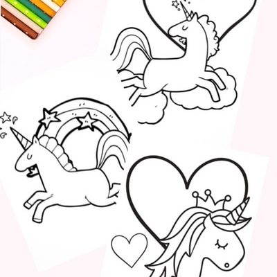 Free Super Cute Printable Unicorn Coloring Book Pages