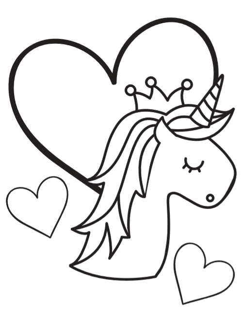 Free Unicorn Coloring Book Pages