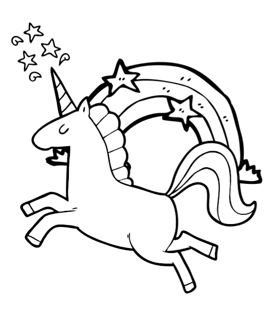 It's just a picture of Comprehensive Unicorn Coloring Pages Free Printable