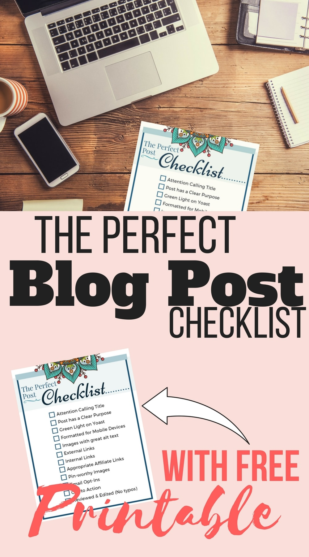 The perfect blog post checklist. Everything you need for a great blog post.