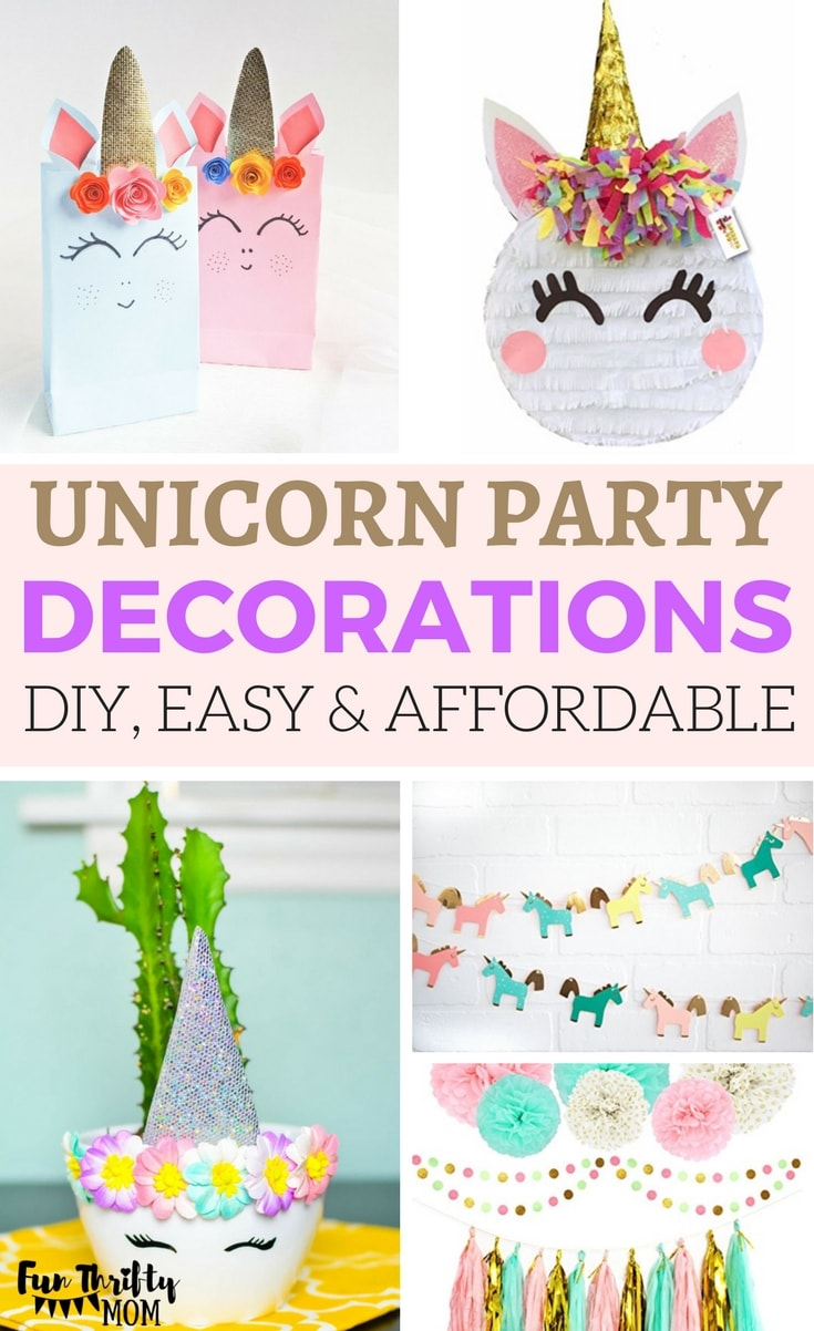 Unicorn Birthday Party Decoration Ideas