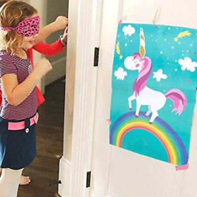 Fun unicorn themed birthday party activities. Have to include a pin the tail... i mean horn on the unicorn game!