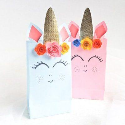 Diy Unicorn Gift Bags 21 Birthday Party Ideas Fun Thrifty Mom