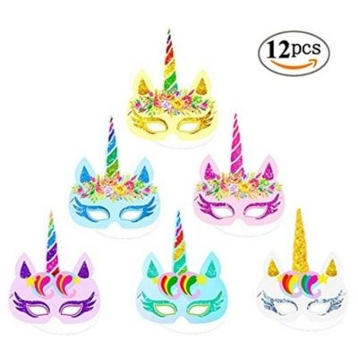 Unicorn birthday hat masks are perfect for a fun party!