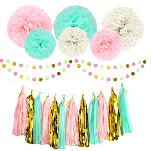 This Cute Party Decoration Set Would Be Perfect For A Unicorn Themed Birthday