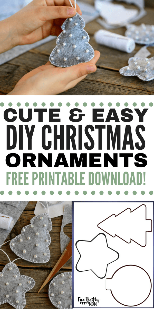 DIY felt Christmas ornaments. These easy to make yourself ornaments are perfect as inexpensive christmas gifts, or as cherished keep sakes for your family christmas tree.
