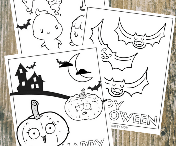Free halloween coloring pages. Perfect for halloween fun with the kids!
