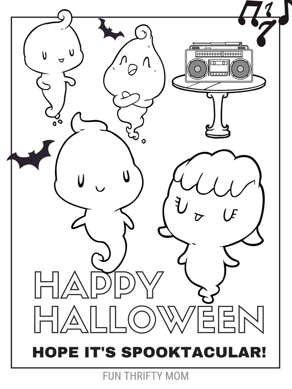 Cute & Free Halloween Coloring Pages ⋆ Fun Thrifty Mom