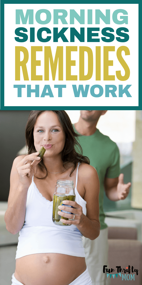 Morning sickness remedies that work! Perfect for pregnant moms in early pregnancy.