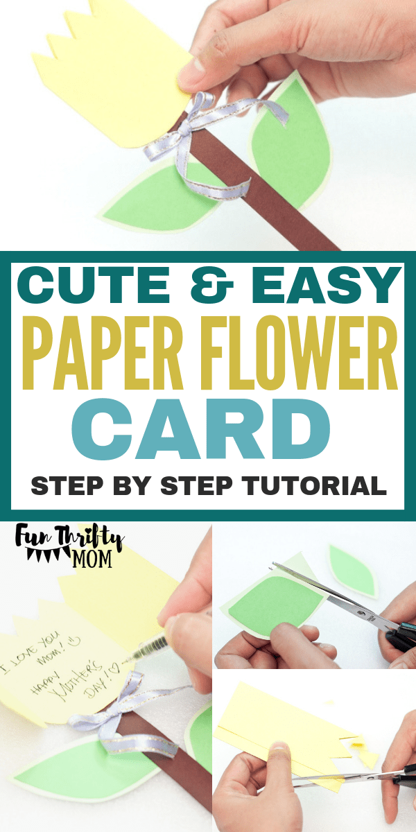 This adorable handmade flower card is a perfect kids craft! Great for kids looking to make a special card for mothers day or just because. A wonderful spring time craft.