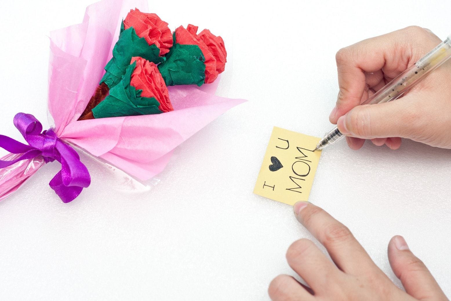 Cute Paper Flower Bouquet Fun Thrifty Mom