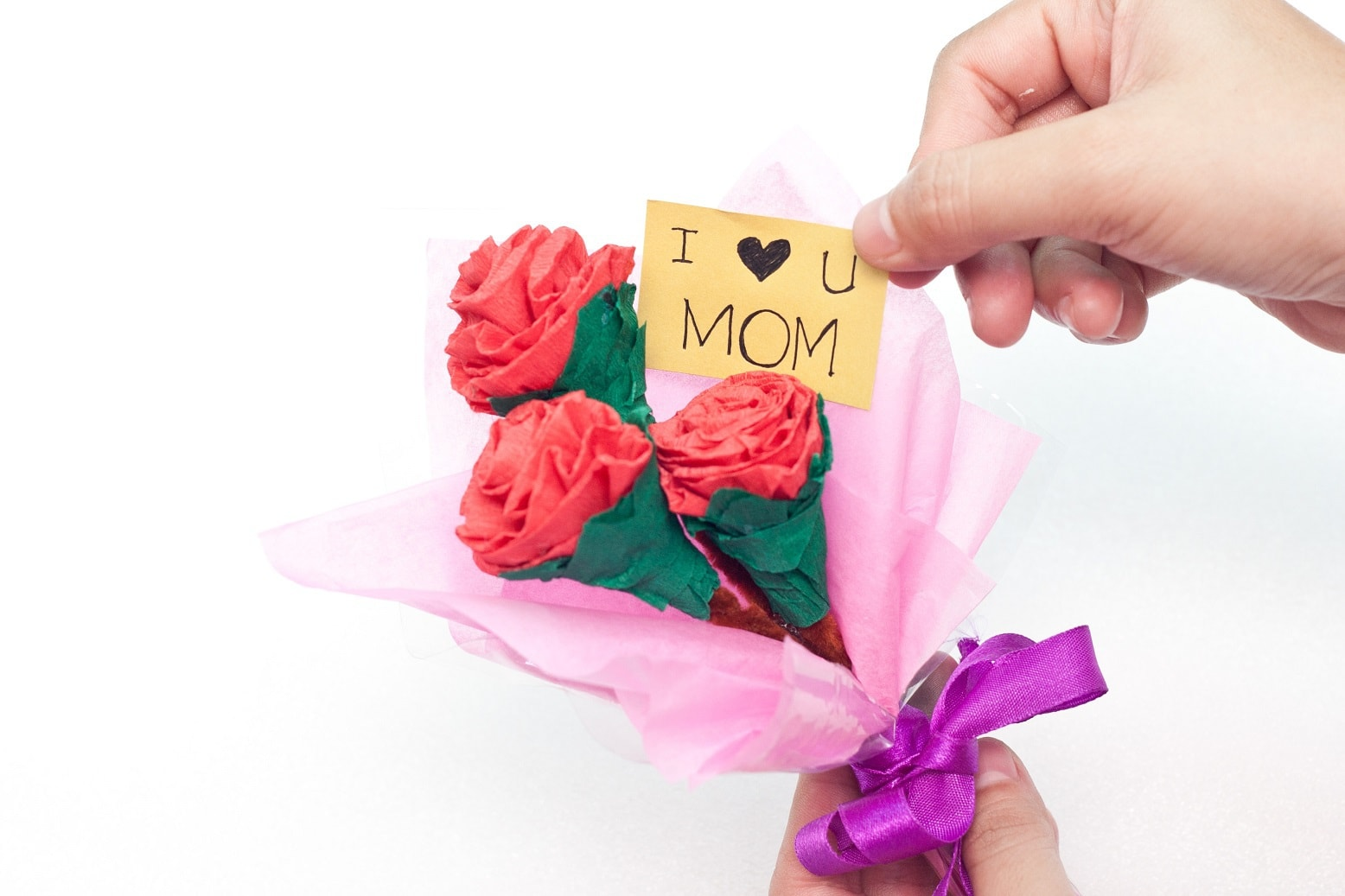Cute Paper Flower Bouquet Fun Thrifty Mom