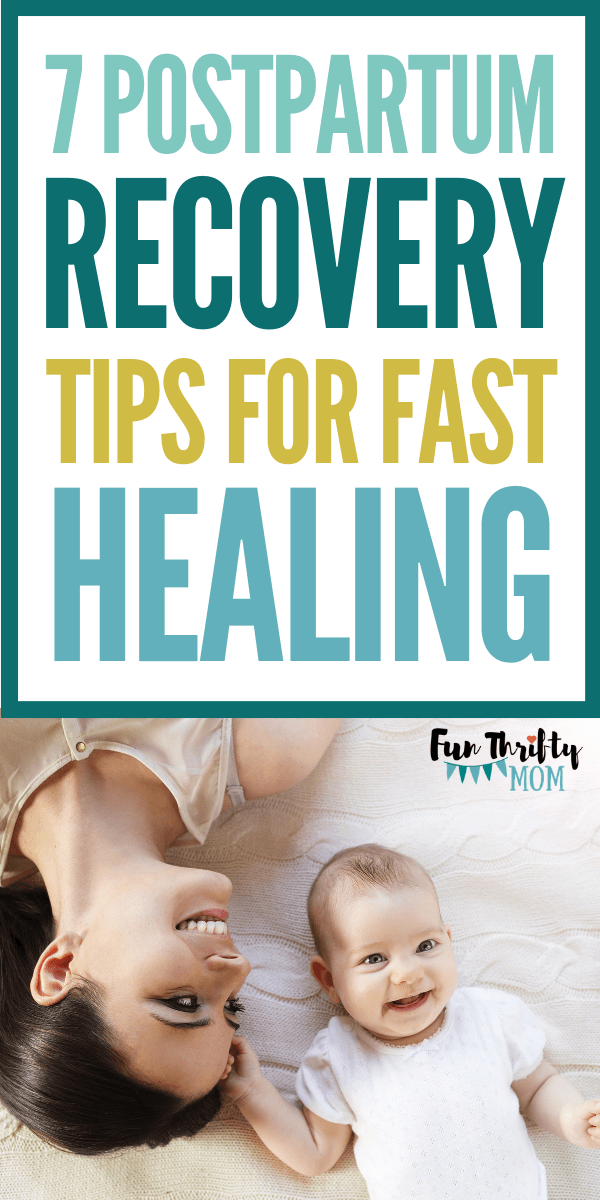 Postpartum recovery tips. How to heal your body after birth.