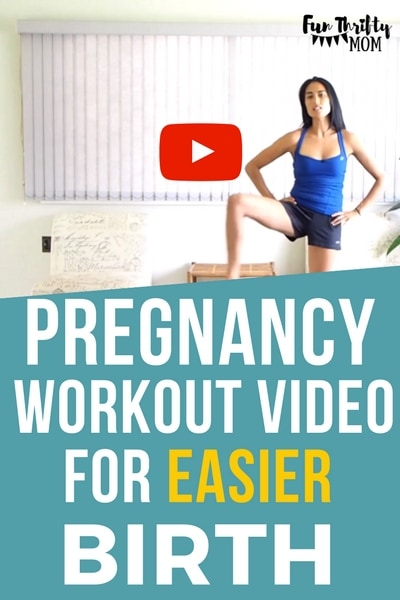 Pregnancy workout video for an easier labor and birth. Prenatal fitness is a big deal. Use these simple pregnancy safe exercises and stretches to keep in shape and strengthen and open your pelvis and hips. Perfect for an easier labor and delivery.