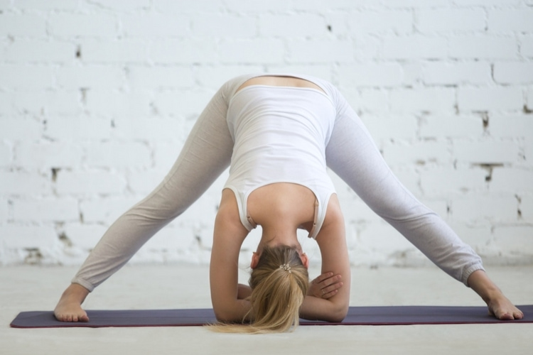 Yoga stretches to help ease back and hip pain during pregnancy. A great way to stay fit and get your body ready for an easier birth. The forward bend is great at opening hips and stretching the lower back.