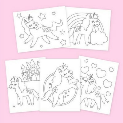 Super cute unicorn printables for Unicorn Themed Birthday Party