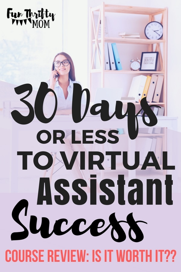 30 days or less to virtual assistant success course review from the horkey handbook. How to build and grow your VA business and make money from home.